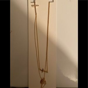 NWT Express gold plated cross necklace